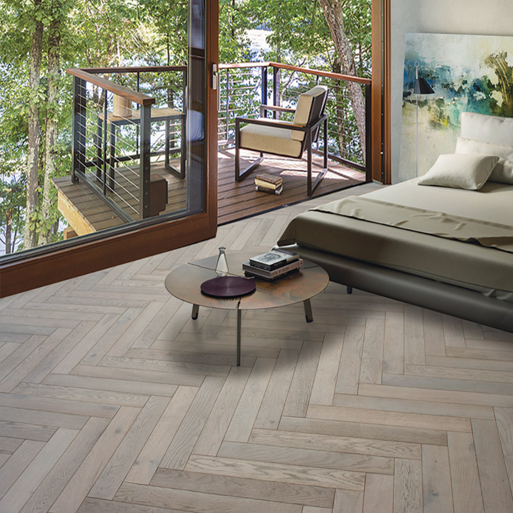 White Walnut Parquet Flooring