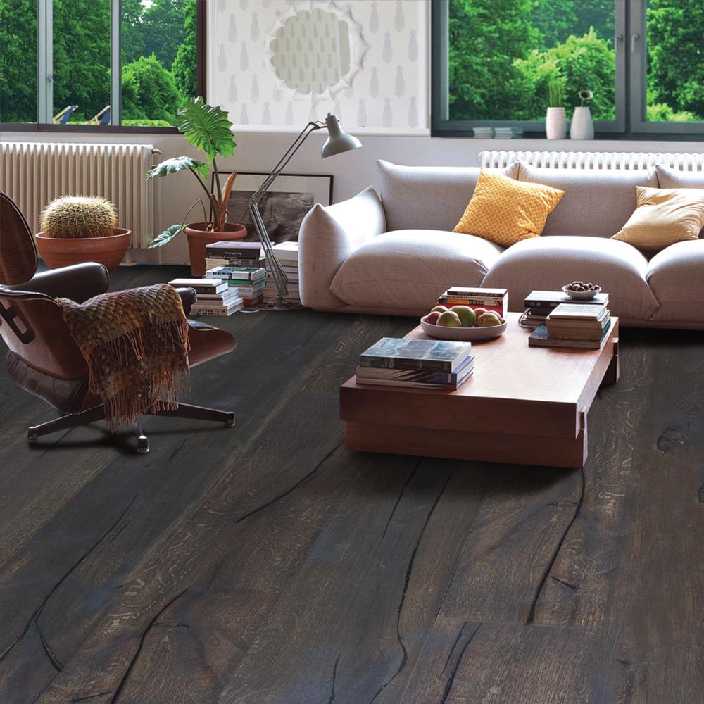 Charcoal Parquet Flooring