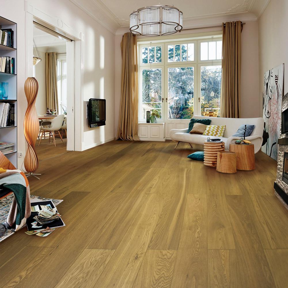 Smoked Oak Parquet Flooring