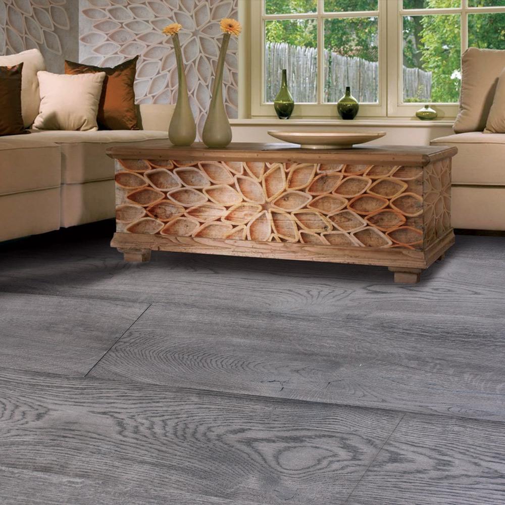 White Charcoal Parquet Flooring